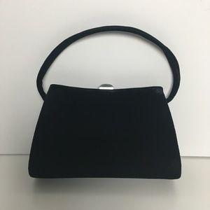 Giorgio Armani black velvet evening clutch